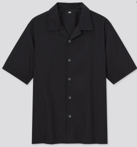Uniqlo Men Open Collar Shirt, best camp collar shirt
