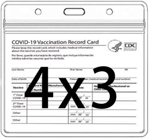 clear vinyl CDC vaccine card protector, where to store your covid vaccine card