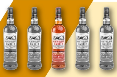 dewars portuguese smooth whisky bottles