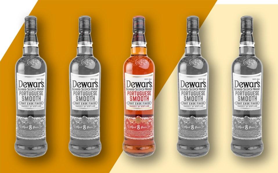 dewars portuguese smooth whisky bottles