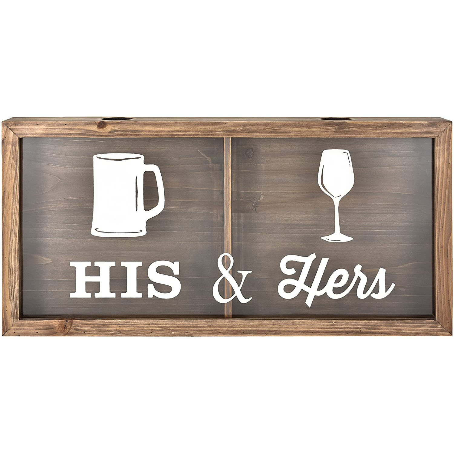 MCS Bar None His & Hers Wine Cork & Beer Cap Wall