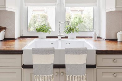 the cheapest way to upgrade your kitchen get a new dish towel