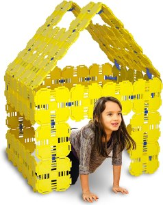 A board fort-building kit