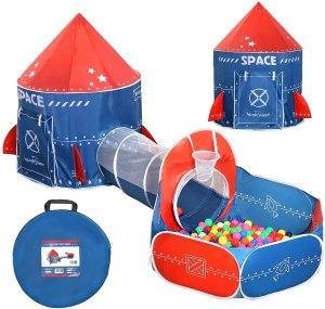 Toddler pop-up fort-building kit
