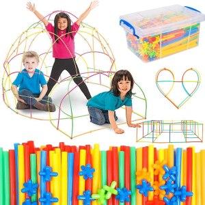 Straws fort-building kit