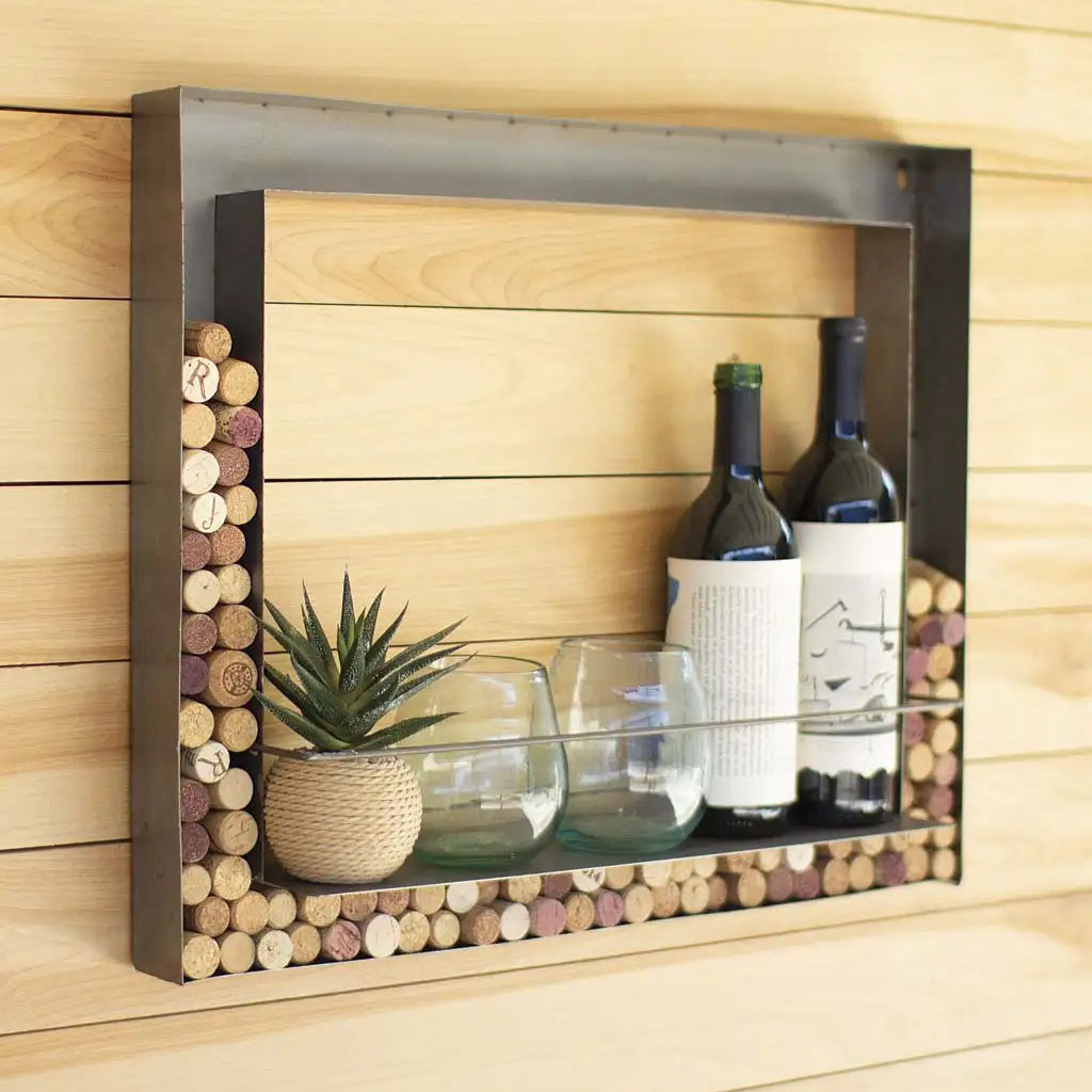 Vivaterra Wall Bar And Wine Cork Holder