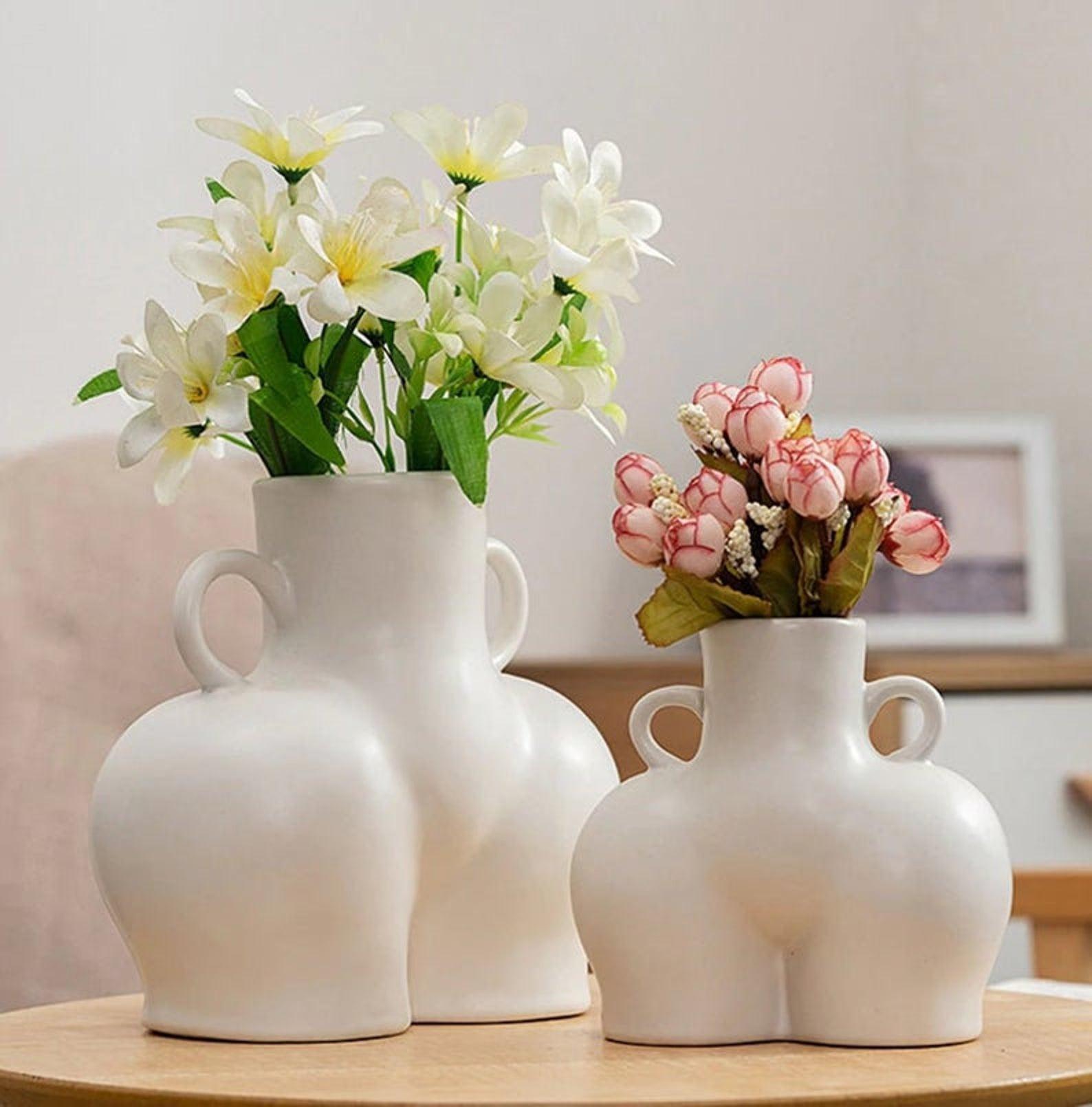 Homely Vibe Ceramic Love Handle Vase