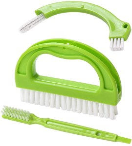 living & giving grout brush, best ways to clean grout