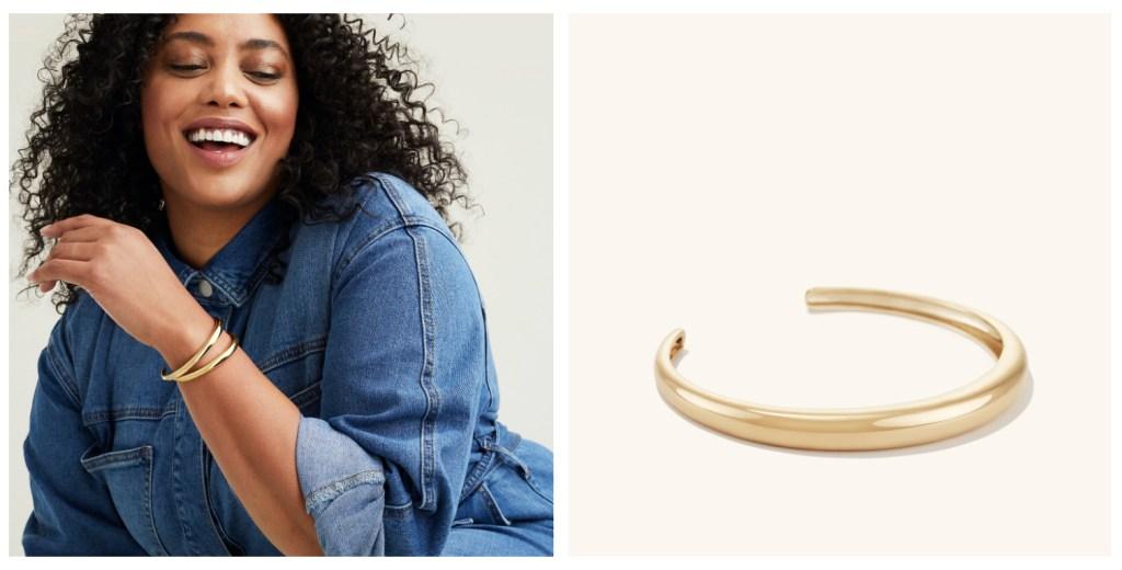 mejuri gold cuff bracelet