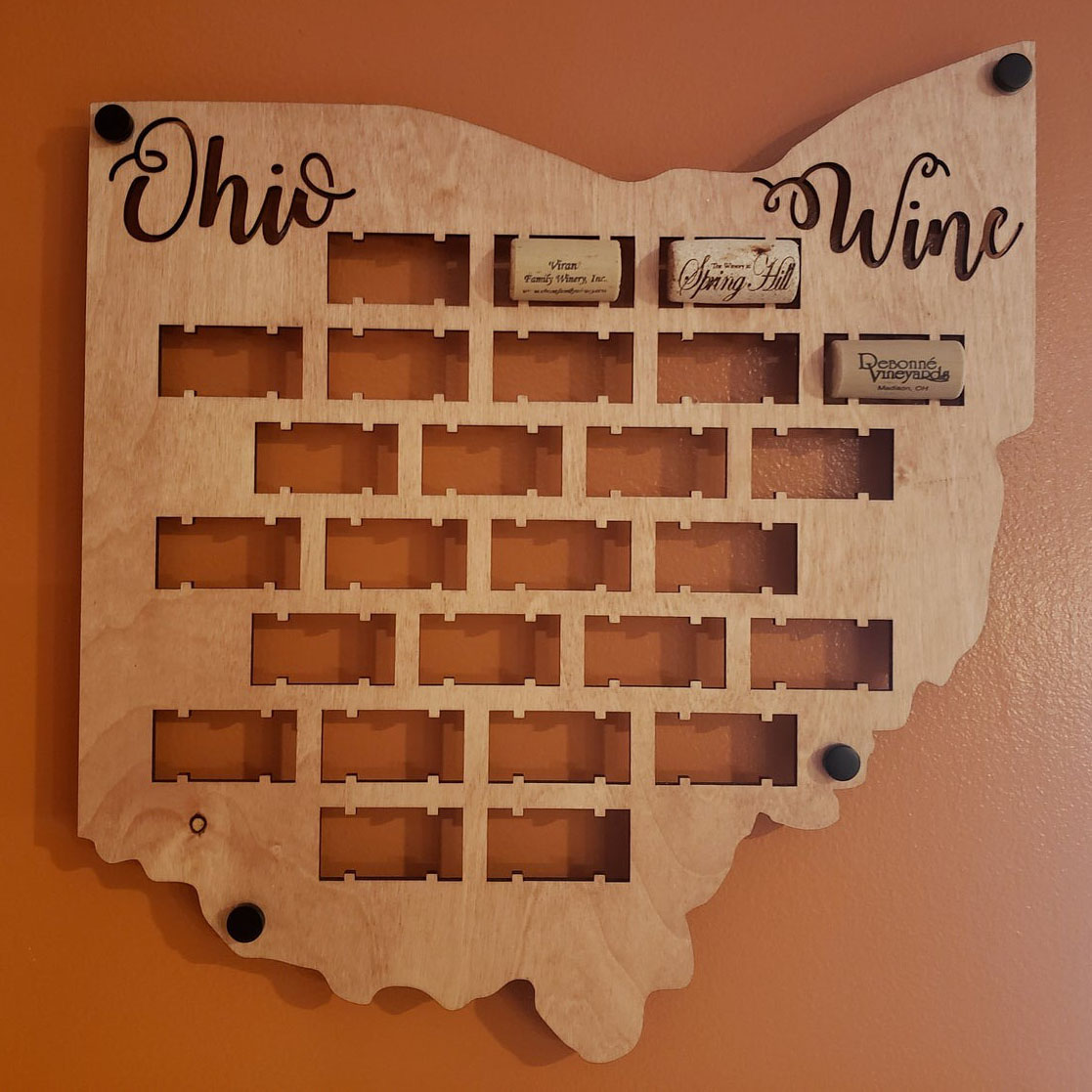 Northcoast Imprints US State Wine Cork Holder