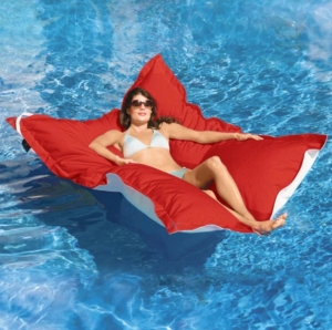 A luxury pool float for adults