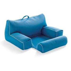 An arm chair inspired pool float for adults