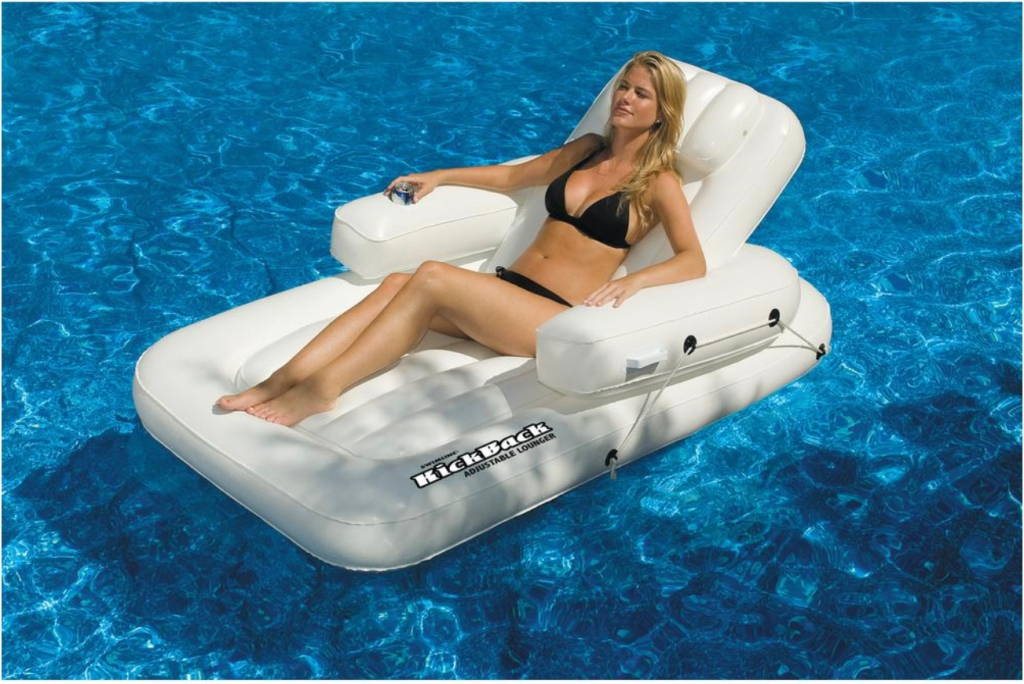 A heavy duty pool float for adults
