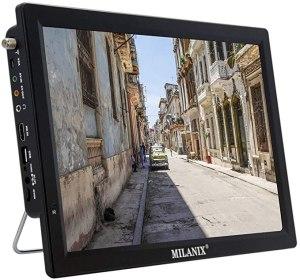 "best portable tv Milanix 14.1"" Portable Widescreen LED TV"