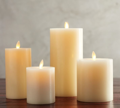 premium flickering flameless pillar candles