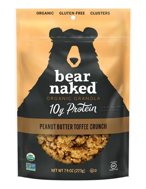 Bear Naked Organic Granola Peanut Butter Toffee Crunch, Best Granolas