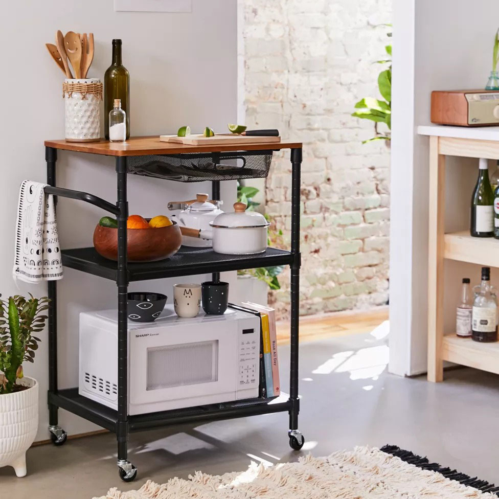 Urban Outfitters Rolling Kitchen Cart