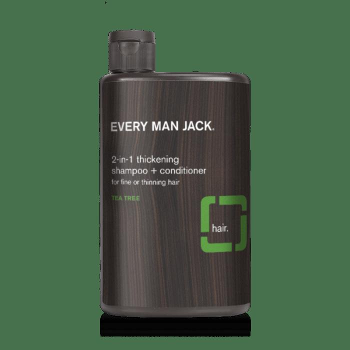 every man jack thickening tea tree oil shampoo
