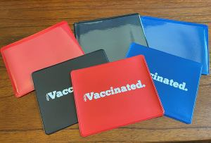 vaccinated card holder, where to store your covid vaccine card