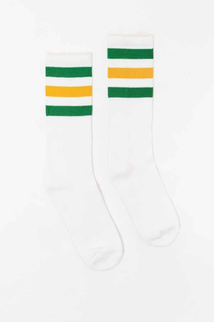 Los Angeles Apparel Unisex 3-Stripe Calf Socks