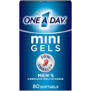 One A Day Mini Gels for Men, best multivitamins for men
