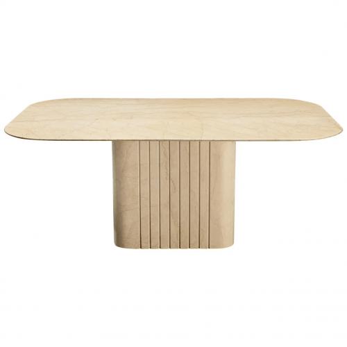 vintage travertine dining table
