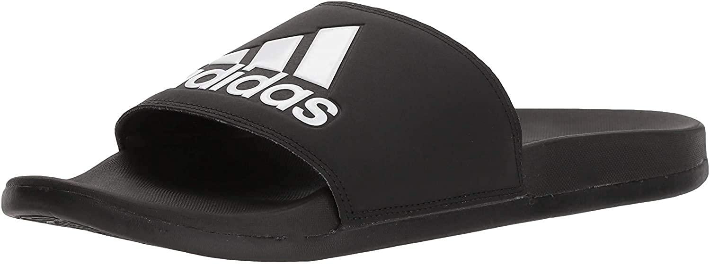 Adidas Men's Adilette Comfort Slide Sandals, most comfortable flip flops