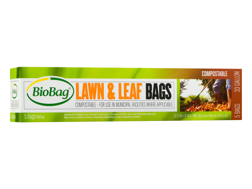 biobag lawn and leaf compostable bags