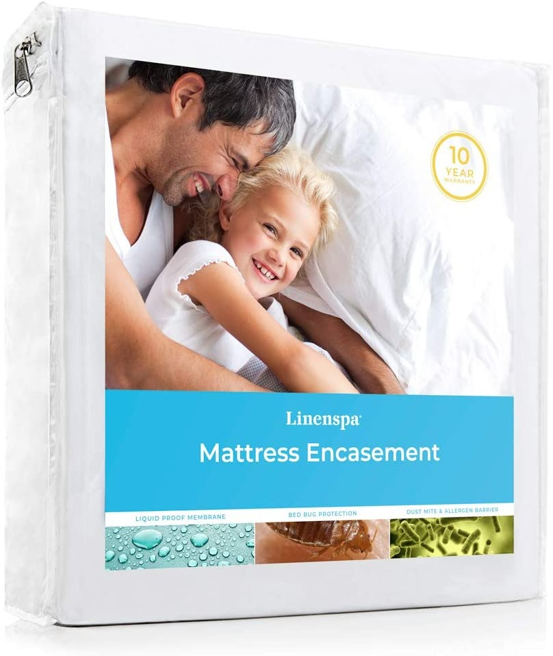 LINENSPA Waterproof Bed Bug Proof Encasement Protector, how to get rid of allergens in your home