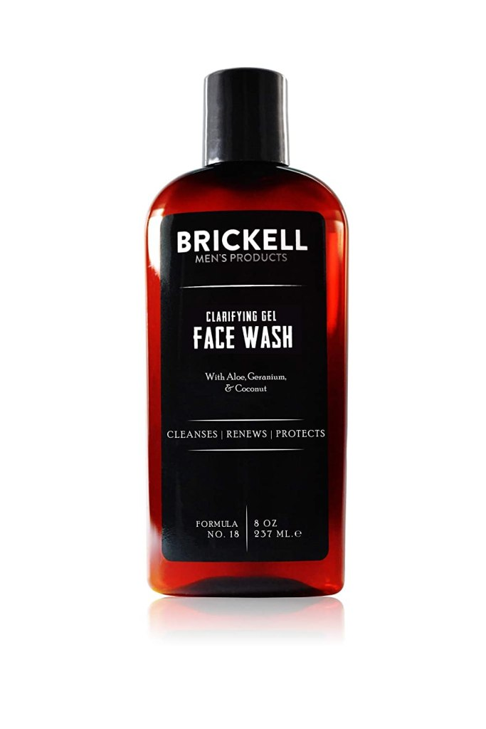 Brickell Men's Clarifying Gel Face Wash, best natural face wash