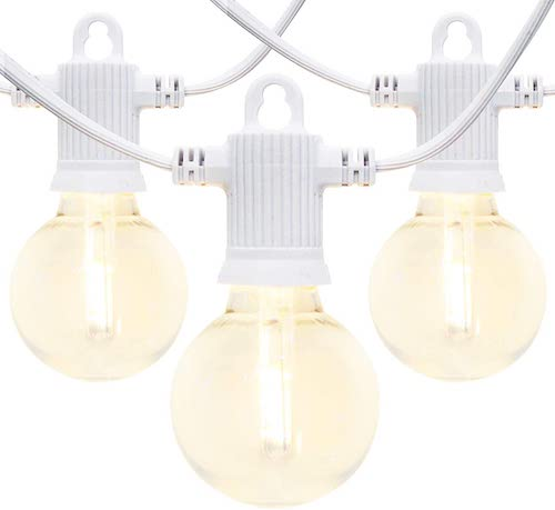 FMART White Outdoor LED String Lights