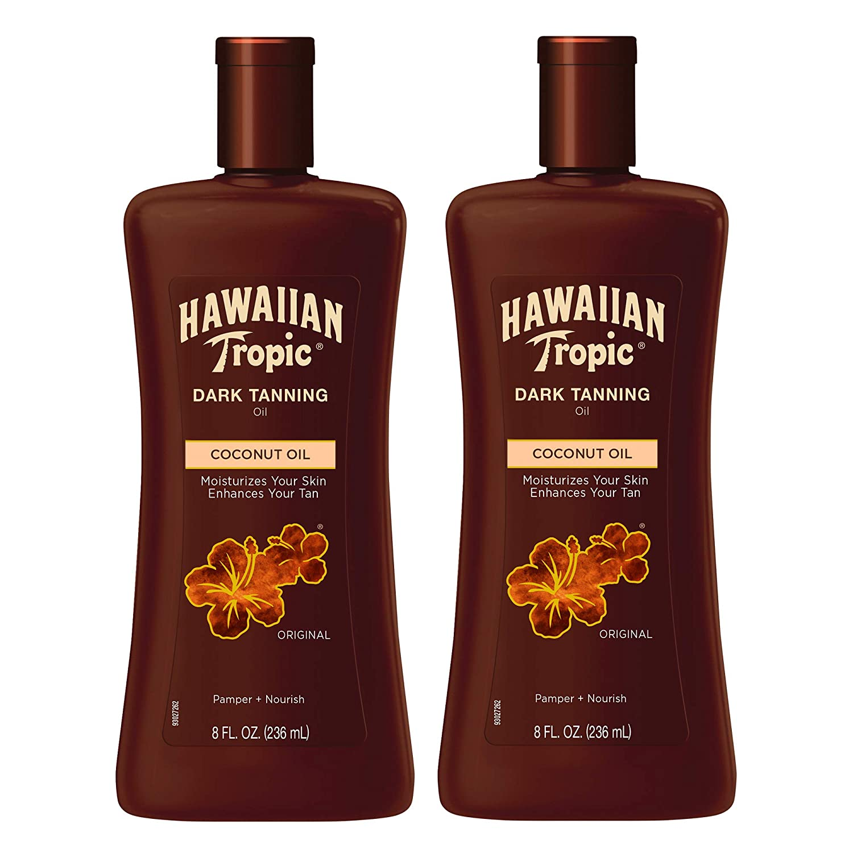 Hawaiian Tropic Dark Tanning Sun Care Moisturizing Oil
