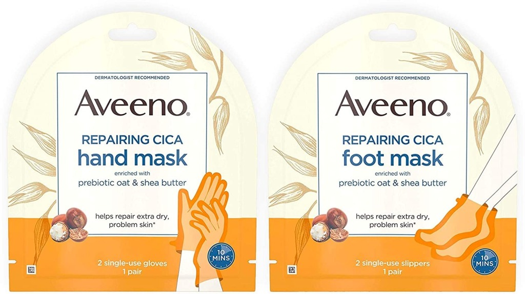 Aveeno Repairing CICA Foot And Hand Mask, Best Cuticle Oils