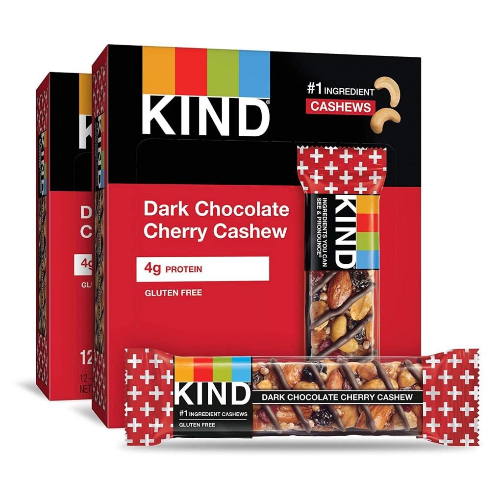 KIND Bars, Dark Chocolate Cherry Cashew, Best snack foods