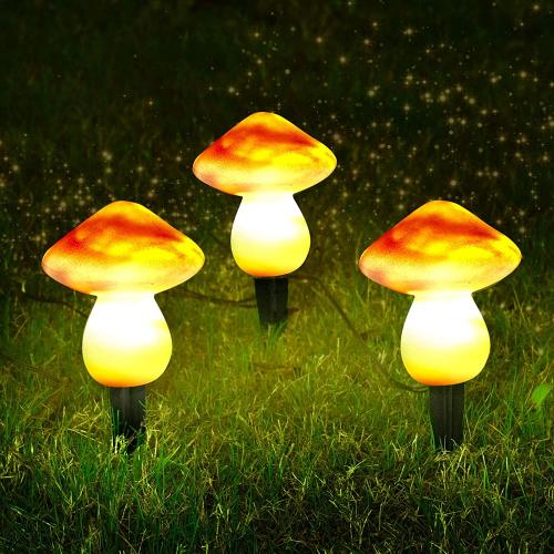 mushroom garden lights