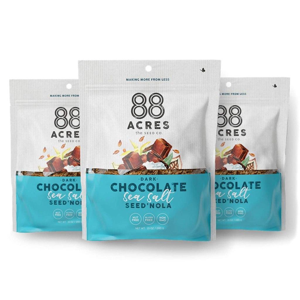 88 Acres Dark Chocolate Sea Salt Seed'Nola, best allergen-free snack