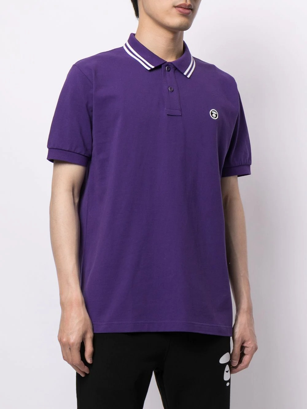 AAPE-by-A-Bathing-Ape-Logo-Embroidered-Polo-Shirt