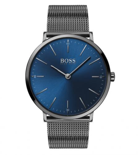 Boss Horizon Mesh Trap Blue Face Watch