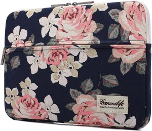 best laptop sleeves canvaslife white roses