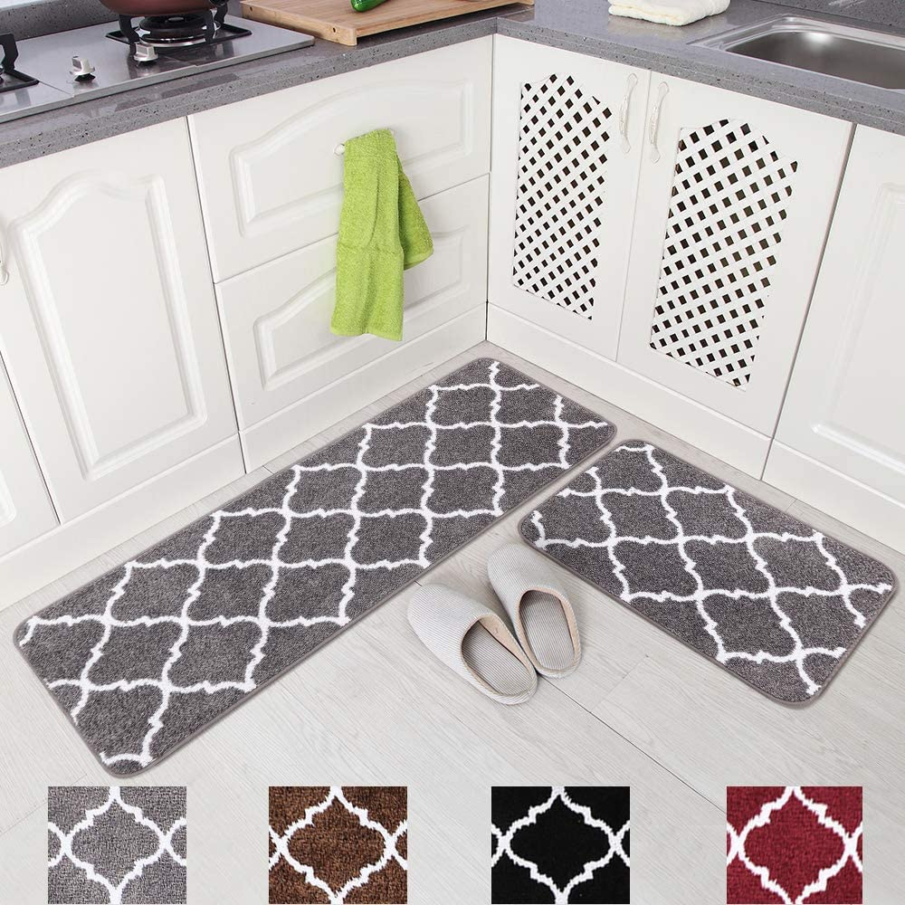 Carvapet 2 Pieces Kitchen Rugs and Mats Set