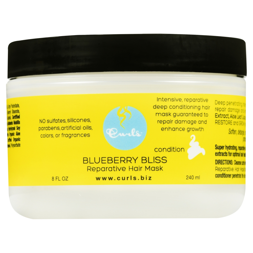 Curls 8 Fl. Oz. Blueberry Bliss Reparative Hair Mask