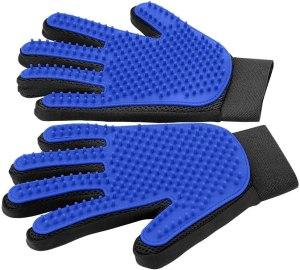 pet grooming glove delomo pair