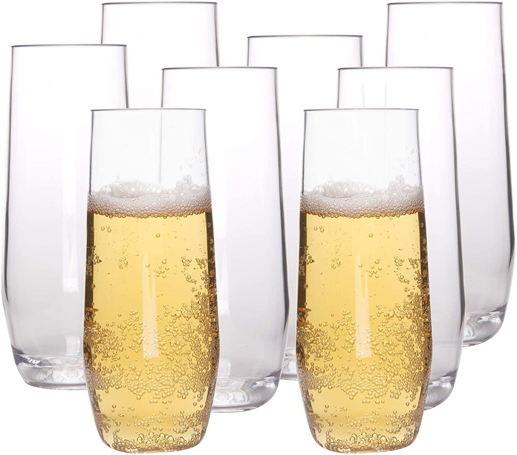 Deco Store Unbreakable Stemless Champagne Glasses