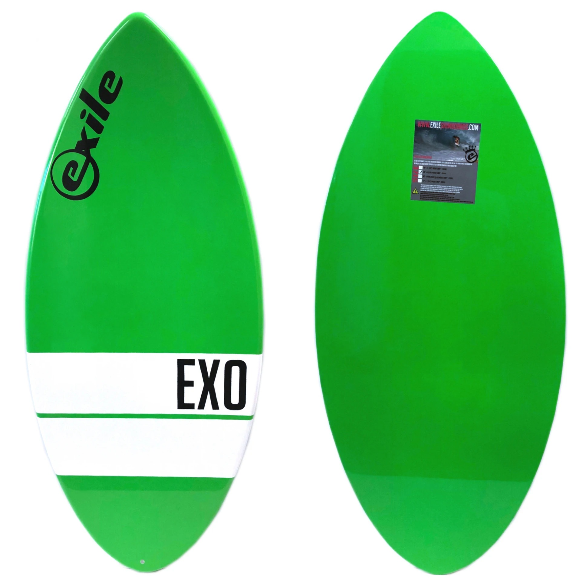 Exile X0 E-Glass Epoxy Skimboard