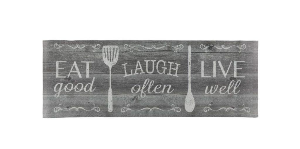 Eat Laugh Live Anti-Fatigue Kitchen Runner Mat by J&V Textiles