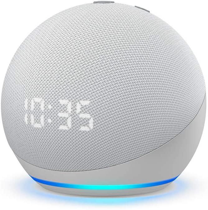 Echo Dot Smart Speaker And Clock