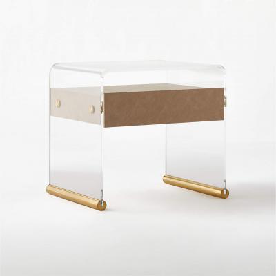 acrylic modern nightstand