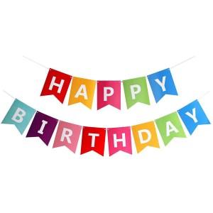 Fecedy colorful happy birthday banner
