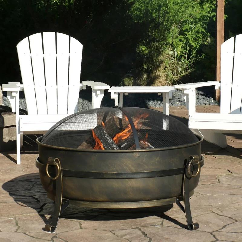 Flanigan Steel Wood Burning Fire Pit