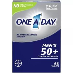 One A Day Men's 50+ Complete Multivitamin, best multivitamins for men